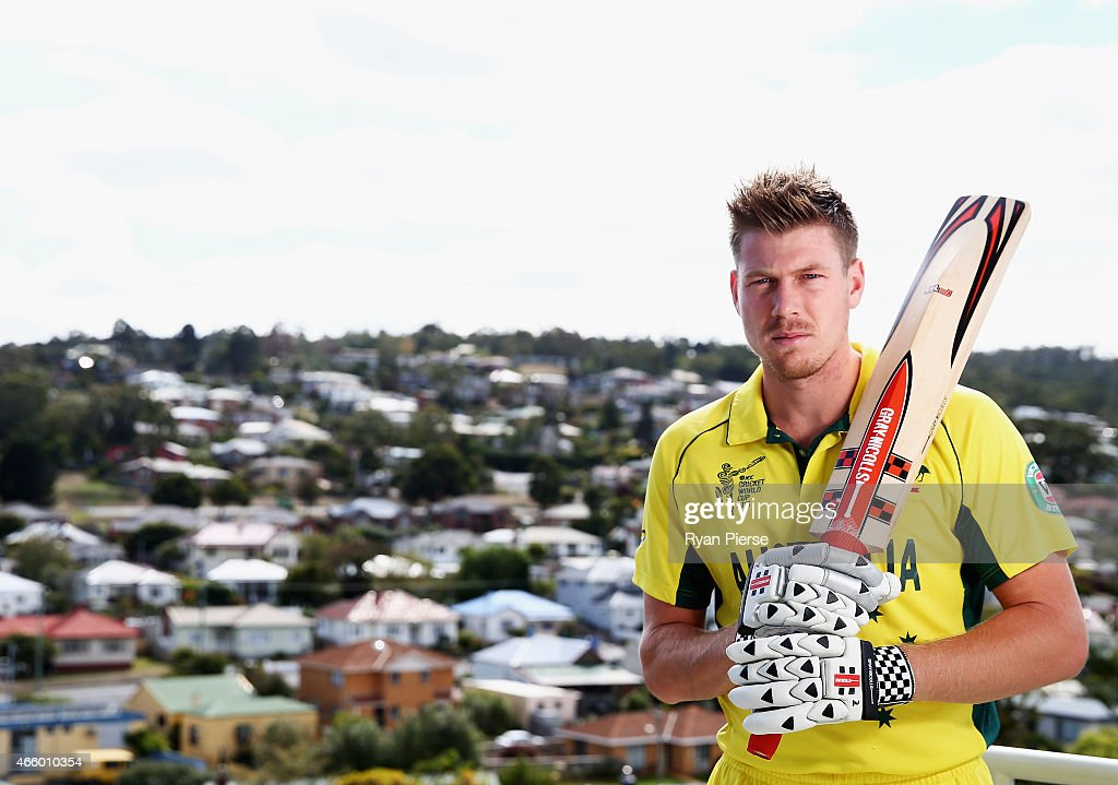 Australian cricket player <a gi-track='captionPersonalityLinkClicked' href=/galleries/search?phrase=James+Faulkner+-+Cricketspeler&family=editorial&specificpeople=11388189 ng-click='$event.stopPropagation()'>James Faulkner</a> poses during a portrait session on March 13, 2015 in Hobart, Australia.