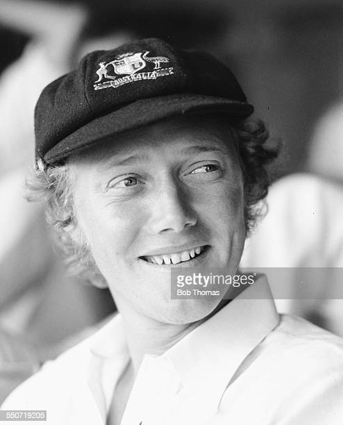 Australian cricket player Kim Hughes pictured at the Northampton versus Australia match at the County Ground in Northampton England July 1977