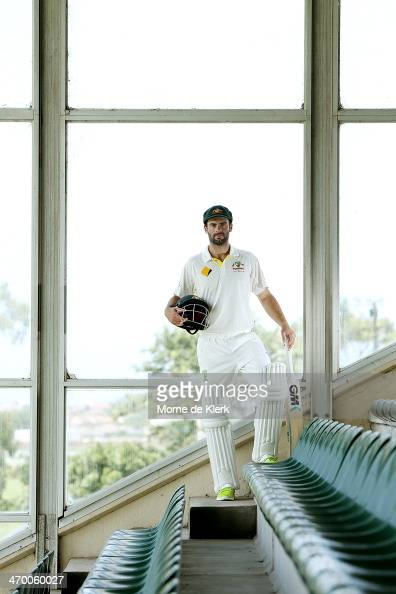Australian cricketer Alex Doolan poses for portraits at St Georges Park Cricket stadium on February 18 2014 in Port Elizabeth South Africa