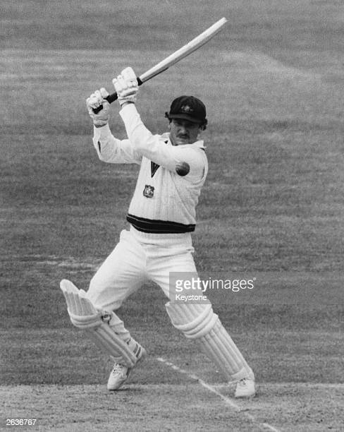 Australian cricketer Allan Border in action during the Prudential Trophy match against England at Lord's cricket ground London Original Publication...
