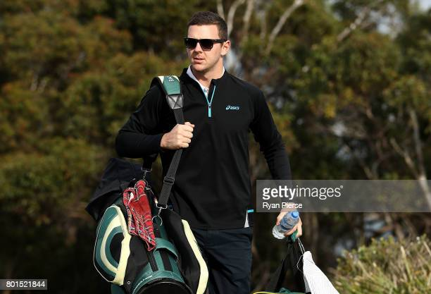 Australian Cricketer Josh Hazlewood arrives during the Australian Cricketers' Association Golf Day at New South Wales Golf Club on June 27 2017 in...