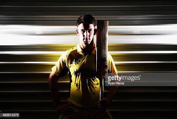 Australian cricketer Mitch Marsh poses during a portrait session at the Bupa National Cricket Centre on February 20 2015 in Brisbane Australia