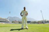 Australian cricketer Mitchell Johnson poses during a portrait session at Newlands Stadium on February 27 2014 in Cape Town South Africa