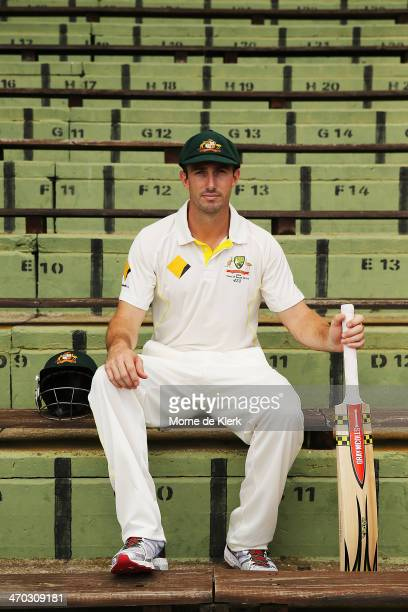 Australian cricketer Shaun Marsh poses for a photograph at St George's Park Cricket Ground on February 19 2014 in Port Elizabeth South Africa