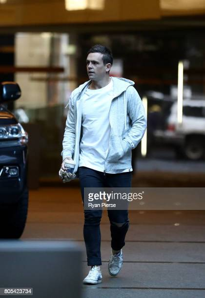 Australian cricketer Steve O'Keefe arrives for the ACA Emergency Executive meeting at the Hilton Hotel on July 2 2017 in Sydney Australia More than...