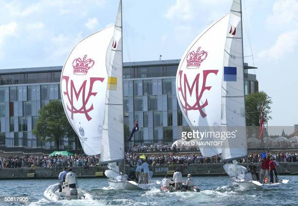 Australian Crown Princess to be Mary Donaldson and her fiancee Danish Crown Prince Frederik race against each other in the Royal Match Race at...