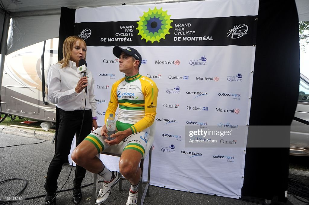 Australian cyclist Simon Gerrans of Team Orica during the UCI World Tour's Grand Prix Cycliste de Montreal on September 14 2014 in Montreal Quebec...