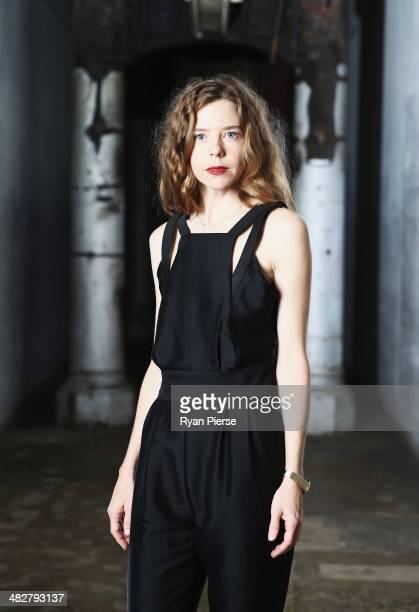 Australian designer Bianca Spender poses for a portrait ahead of MercedesBenz Fashion Week Australia 2014 on April 5 2014 in Sydney Australia...