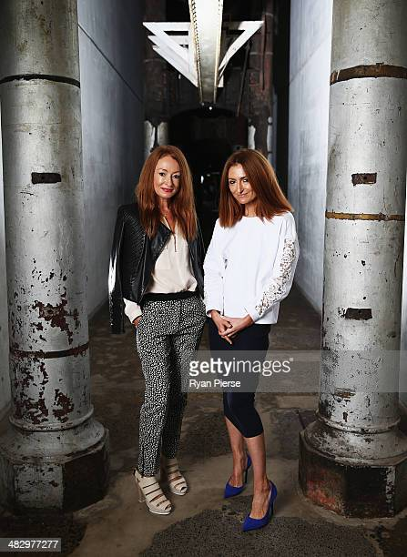 Australian designers of 'Ginger and Smart' Alexandra Smart and Genevieve Smart pose for a portrait ahead of MercedesBenz Fashion Week Australia 2014...