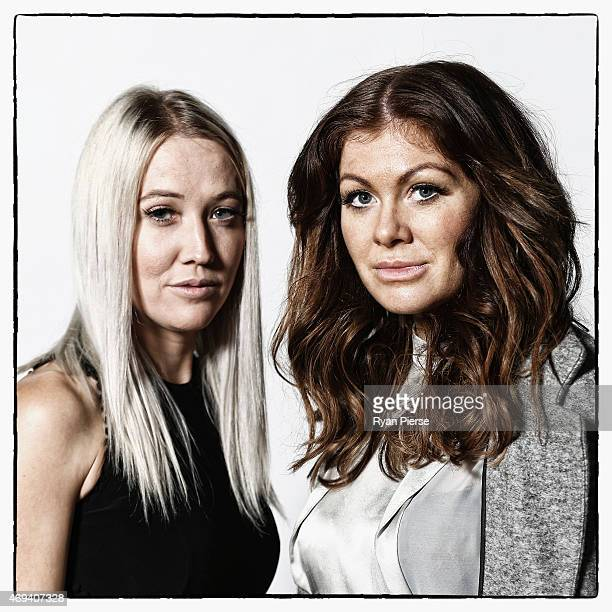 Australian designers of Zhivago Lara Kovacevich and Lydia Tsvetnenko pose for a portrait as MercedesBenz Fashion Week Australia Marks 20 Years on...