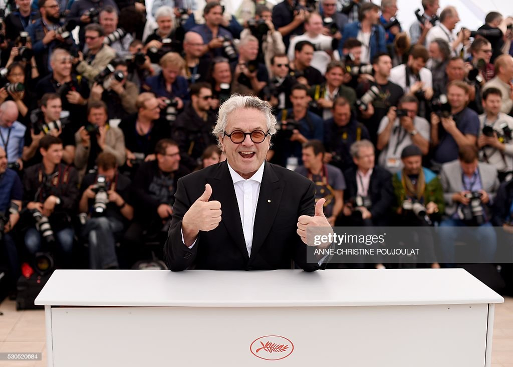 Australian director and President of the Jury George Miller poses on May 11 2016 during a photocall ahead of the opening of the 69th Cannes Film...
