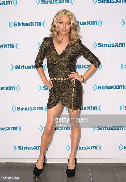 Australian drag queen Courtney Act visits SiriusXM Studios on July 30 2014 in New York City