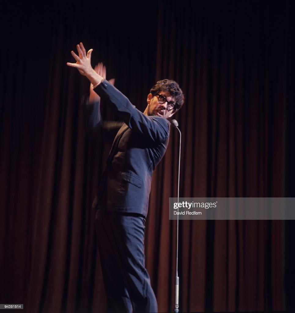 Australian entertainer Rolf Harris performs on stage circa 1970