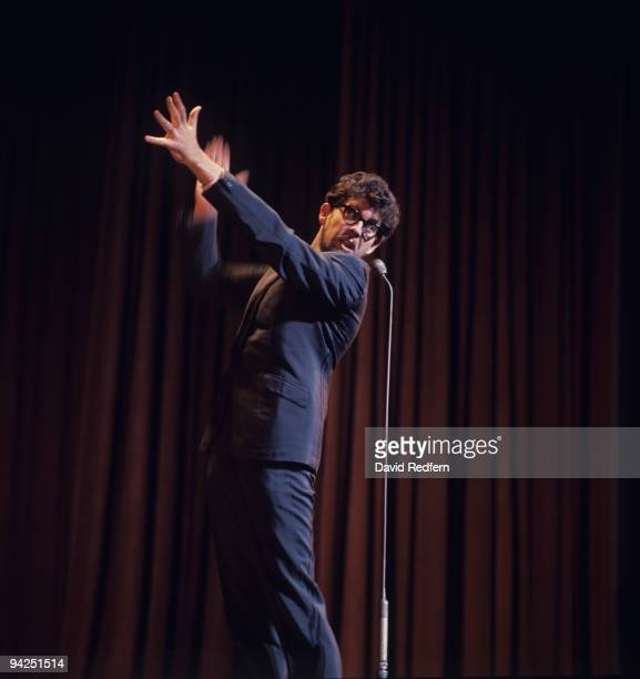 Australian entertainer Rolf Harris performs on stage circa 1970
