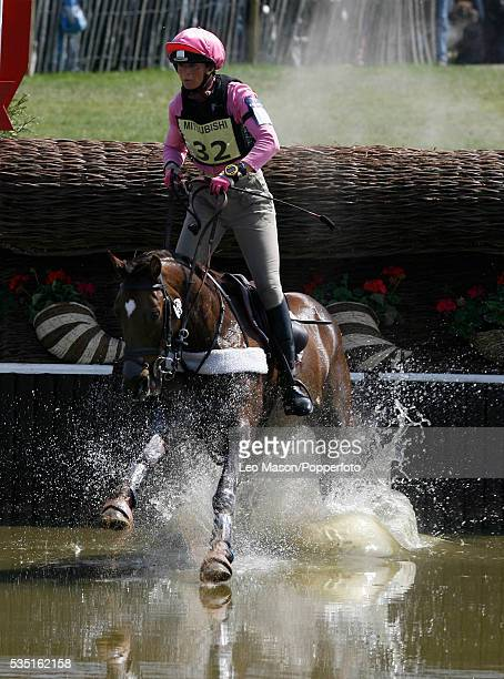 Australian equestrian Lucinda Fredericks competes on Headley Britannia during the Cross Country Test at The Lake Complex at the 2007 Mitsubishi...