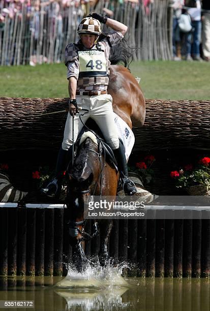 Australian equestrian Matthew Ryan competes on Bonza Katoomba during the Cross Country Test at The Lake Complex at the 2007 Mitsubishi Motors...