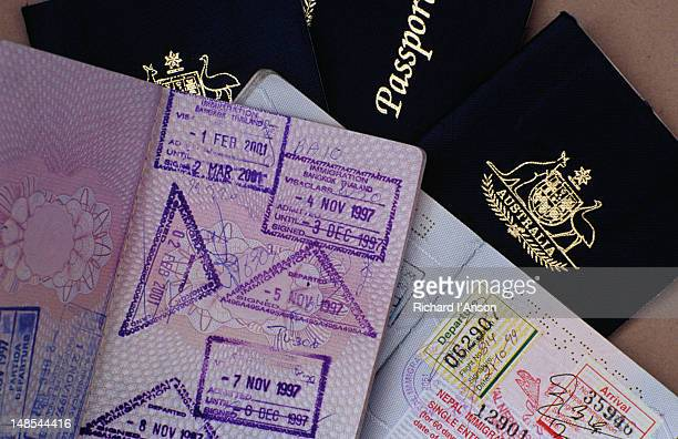 Australian & European Union passports.