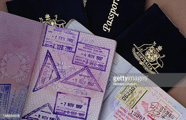 Australian & European Union passports.