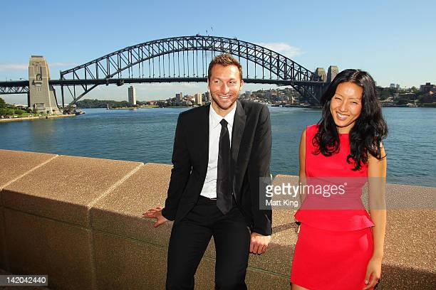 Australian fashion designer Yeojin Bae and Australian swimmer Ian Thorpe attend the announcement of Australia's participation in the Yeosu Expo 2012...