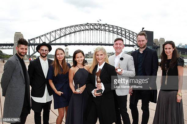 Australian Fashion Laureate Award winners Peter Strateas MarioLuca Carlucci Jenny Lewis Liberty Watson Nancy Pilcher Ty Henschke Toni Maticevski and...