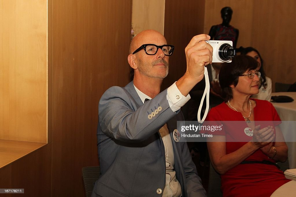 Australian Fashion Week founder Simon Lock during the announcement of Indian finalists for International Woolmark Prize at Australian High Commission on April 17, 2013 in New Delhi, India. 6 Indian designers were chosen to compete this year for the International Woolmark Prize.