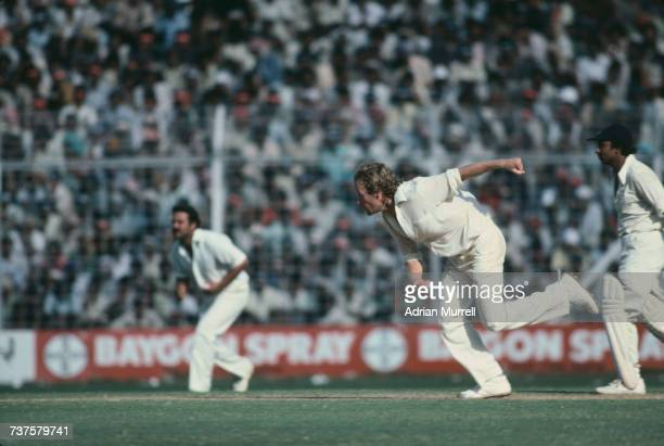 Australian fast bowler Rodney Hogg in action during the 6th Test against India at Wankhede Stadium Mumbai 3rd7th November 1979