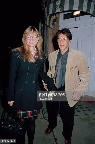 Australian film director and producer Lyndall Hobbs with Al Pacino in London 15th October 1991