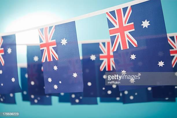 Australian flag celebratory bunting