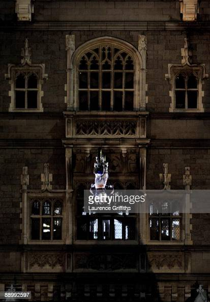 Australian FMX rider Robbie Maddison performs a backflip over Tower Bridge at 255am on July 13 2009 in London England