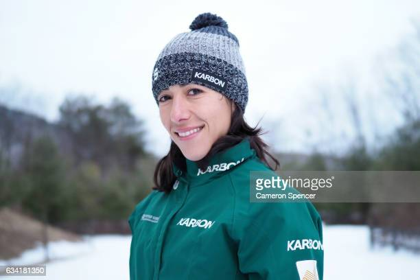 Australian freestyle skier Lydia Lassila poses during an Australian Aerials Team Portrait Session at Phoenix Park ahead of the FIS World Cup Aerials...