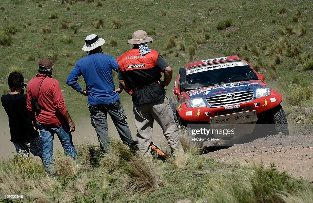 Australian Geoff Olholm competes during the Stage 9 of the Dakar 2013 between Tucuman and Cordoba, Argentina, on January 14, 2013. The rally takes place in Peru, Argentina and Chile between January 5 and 20.