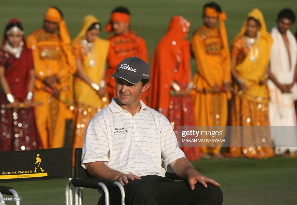 Australian golfer Greg Chalmers attends the presentation ceremony of the Johnnie Walker Classic 2008 in Gurgaon on the outskirts of New Delhi on...