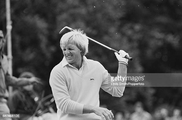 Australian golfer Greg Norman pictured in action competing in the 1981 Suntory World Match Play Championship at Wentworth near Virginia Water England...
