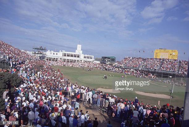 Australian golfer Ian BakerFinch on the 18th hole during the British Open Championship at the Royal Birkdale golf course 1991