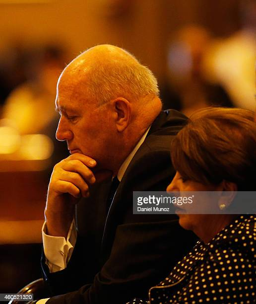 Australian Governor General Peter Cosgrove attends a mass to pay respect to the victims of the Martin Place siege on December 16 2014 in Sydney...