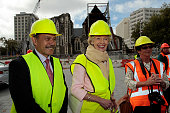Australian GovernorGeneral Quentin Bryce and New Zealand GovernorGeneral Jerry Mateparae at Cathedral Square on February 29 2012 in Christchurch New...