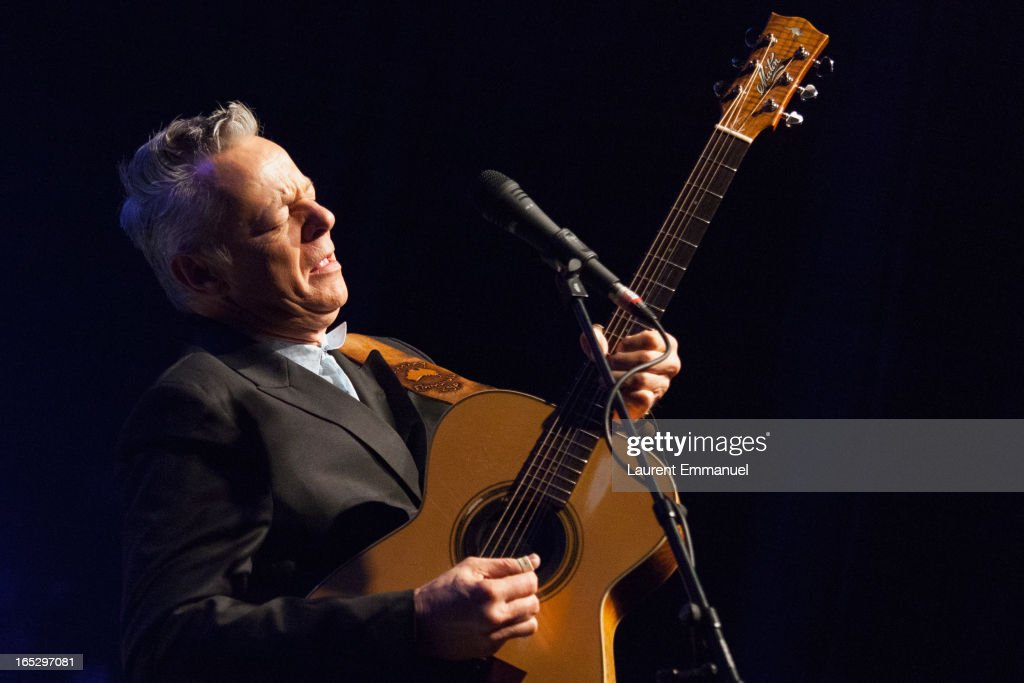 Australian guitarist <a gi-track='captionPersonalityLinkClicked' href=/galleries/search?phrase=Tommy+Emmanuel&family=editorial&specificpeople=2902967 ng-click='$event.stopPropagation()'>Tommy Emmanuel</a> performs at La Cigale on April 2, 2013 in Paris, France.