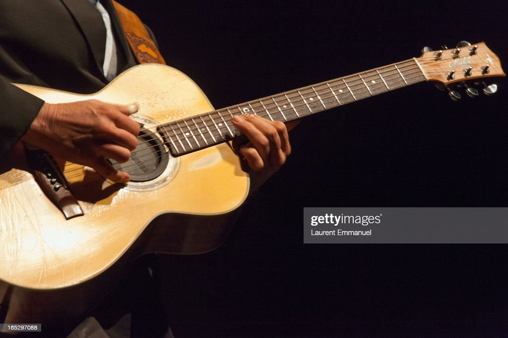 Australian guitarist Tommy Emmanuel performs at La Cigale on April 2, 2013 in Paris, France.