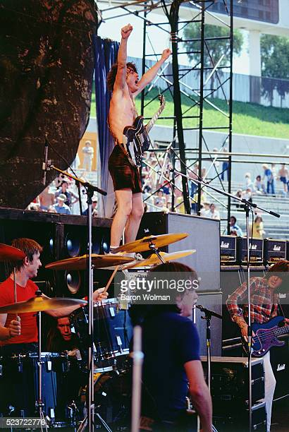 Australian hard rock band AC/DC play at Oakland Coliseum Oakland California September 1978
