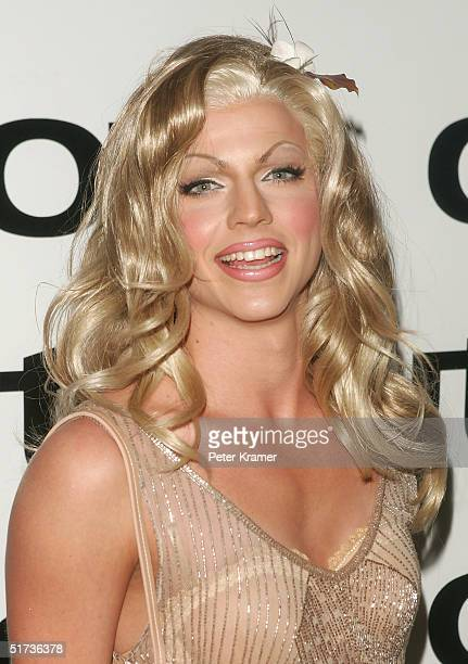 Australian Idol Courtney Act attends the Out100 10th Anniversary gala at Capitale on November 12 2004 in New York City