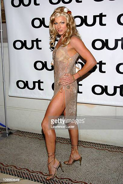 Australian Idol finalist Courtney Act during Out Magazine Celebrates Its 10th Anniversary at Capitale in New York City New York United States