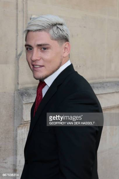 Australian international James O'Connor arrives for an appearance before the French National Rugby League disciplinary commission in Paris on April...