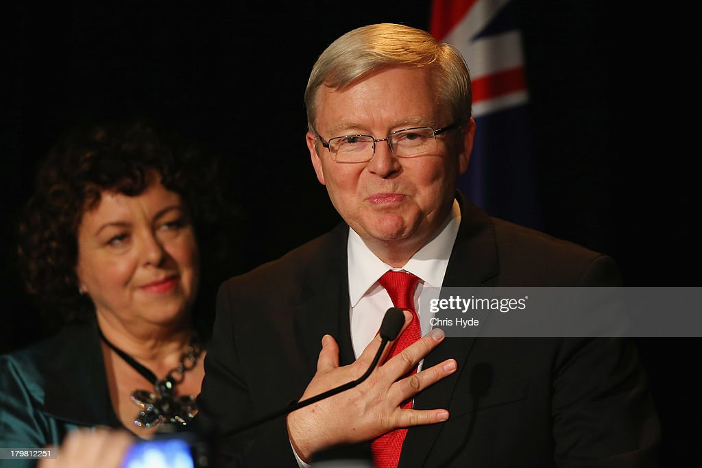 Kevin Rudd Concedes Election Defeat In Brisbane