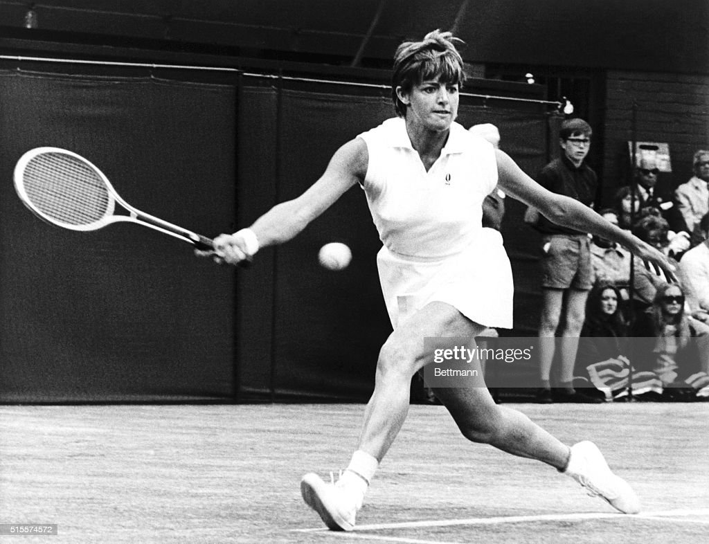Tennis Player Margaret Court on the Court