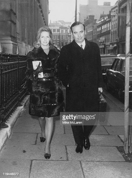 Australian media mogul Rupert Murdoch arriving at the Connaught Rooms London with his second wife Anna Torv for a meeting of shareholders in the News...