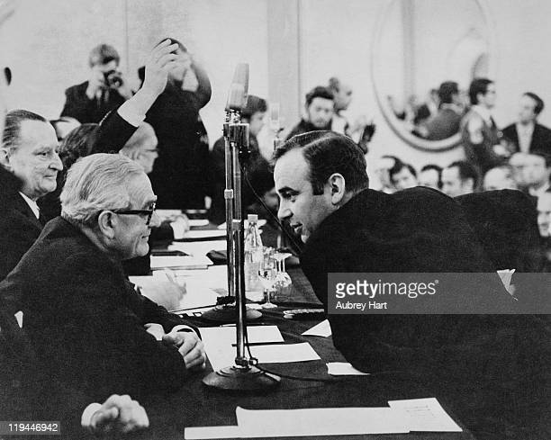 Australian media mogul Rupert Murdoch at a News Of The World shareholders' meeting at the Connaught Rooms London 2nd January 1969 The shareholders...