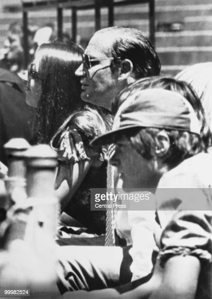 Australian media tycoon Kerry Packer watches one of his World Series Cricket matches at VFL Park Melbourne Australia 24th November 1977