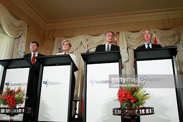 Australian Minister for Defence Kevin Andrews Australian Minister for Foreign Affairs Julie Bishop The UK Secretary of State for Foreign and...