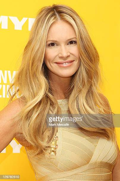 Australian model Elle Macherson poses at a promotion for Invisible Zinc at Myer on October 21 2011 in Sydney Australia