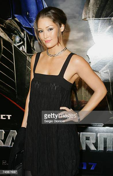 Australian model Erin McNaught attends the special event celebrity screening of the new film 'Transformers' at Hoyts Entertainment Quarter Moore Park...